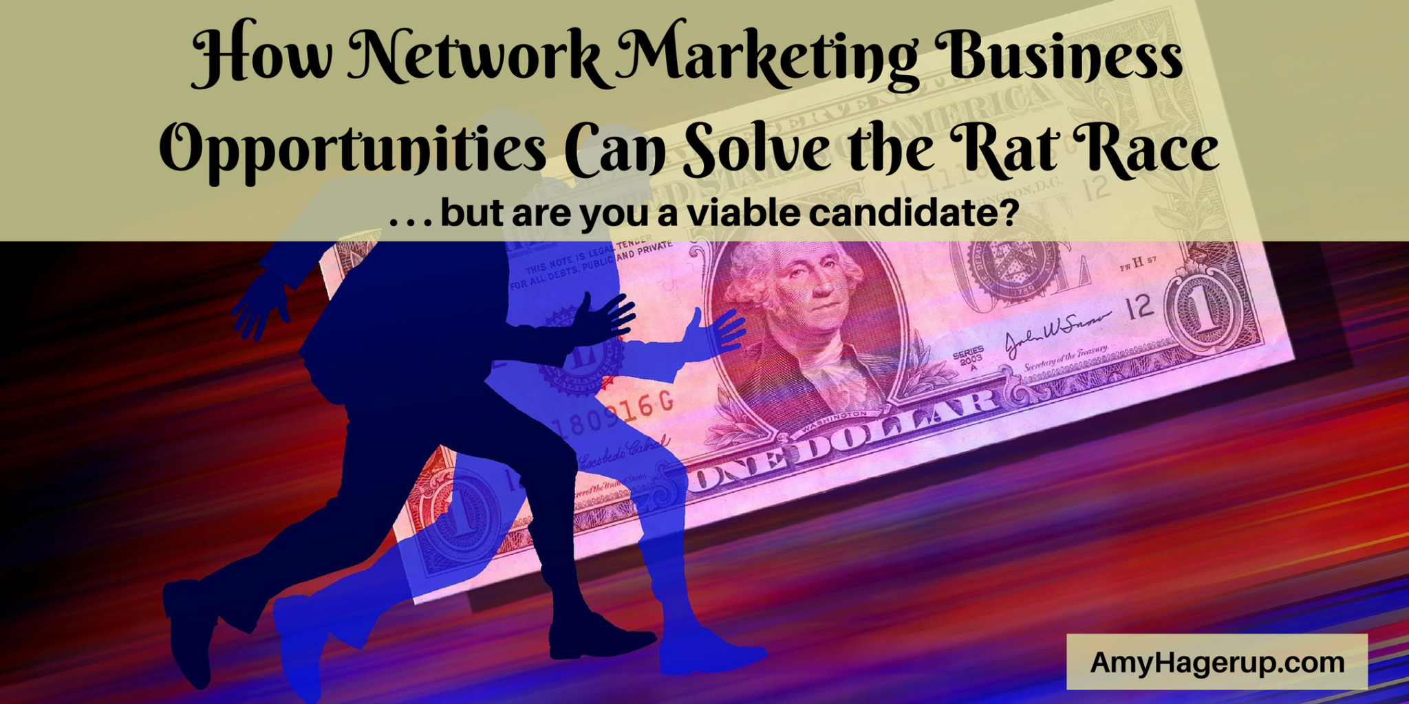 Check out how network marketing business opportunities can solve the rat race syndrome.