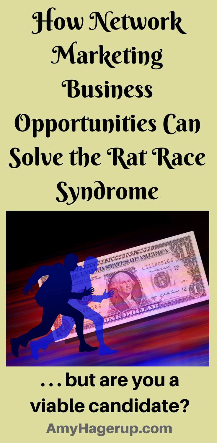 Check out how network marketing business opportunities can solve the rat race syndrome, but are you a viable candidate? Learn about it here.