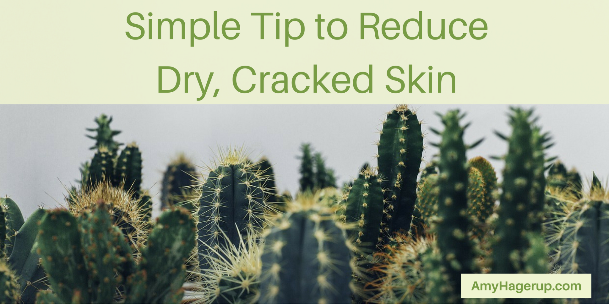 Check out this tip to reduce dry, cracked skin