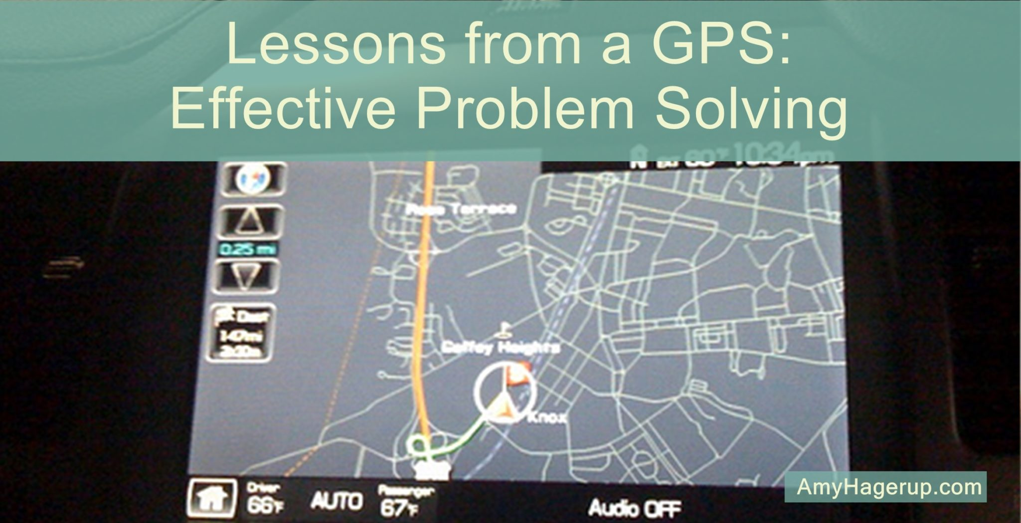 Here are some lessons learned on effective problem solving as learned from a GPS navigation system.