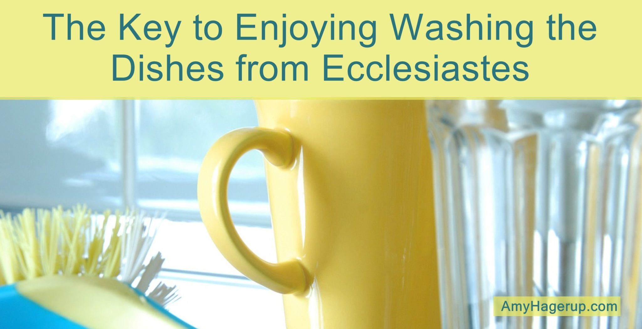 Here is an interesting perspective on enjoying washing the dishes as learned from Ecclesiastes.
