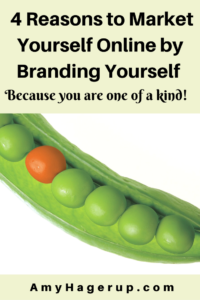 Here are 4 reasons to market yourself online by branding yourself. You are unique!