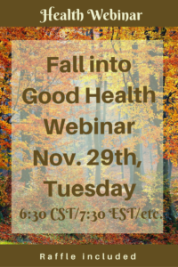 Boost your health with this live webinar including a raffle on Nov. 29th.