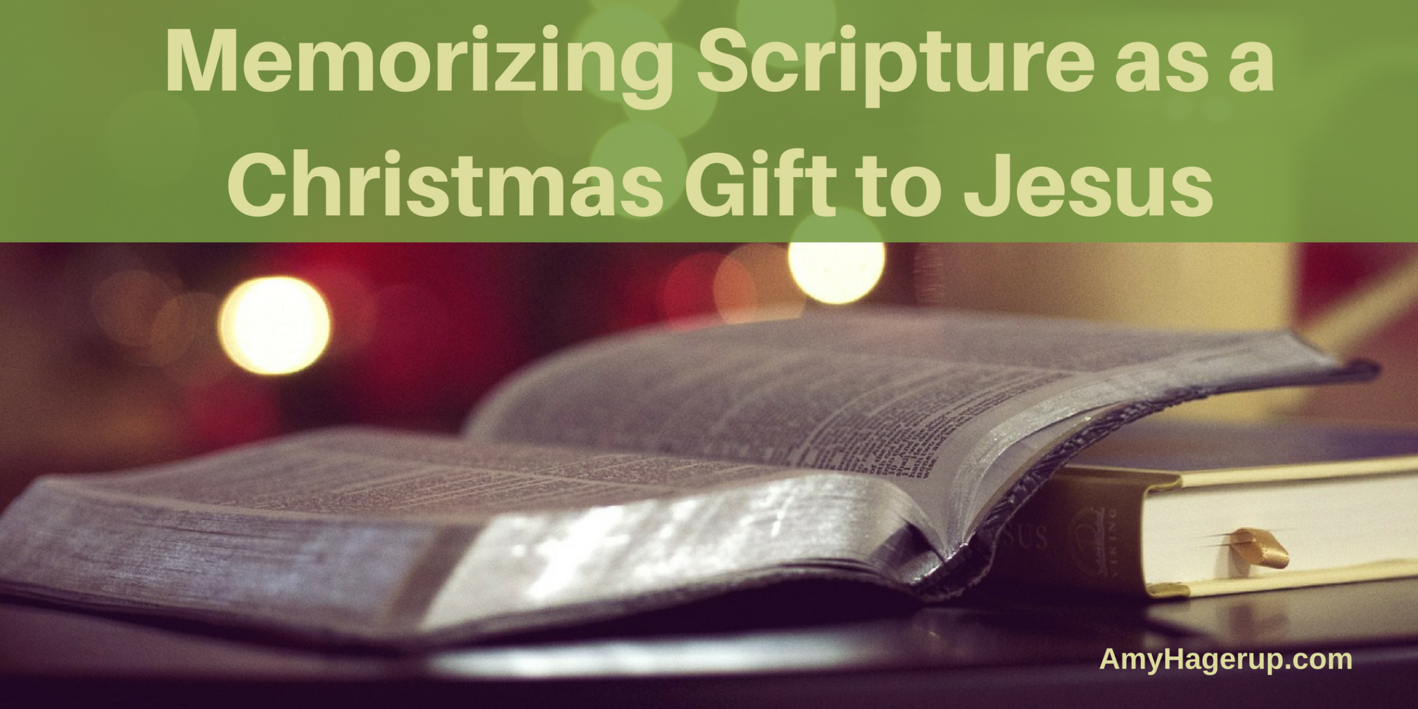 Memorizing scripture is awesome as a Christmas gift to Jesus. Do it as a family.