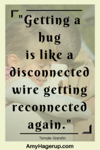 A hug is like getting reconnecting a broken wire inside.