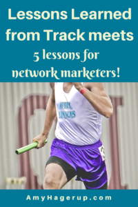 Check out 5 lessons learned for network marketers from track meets.