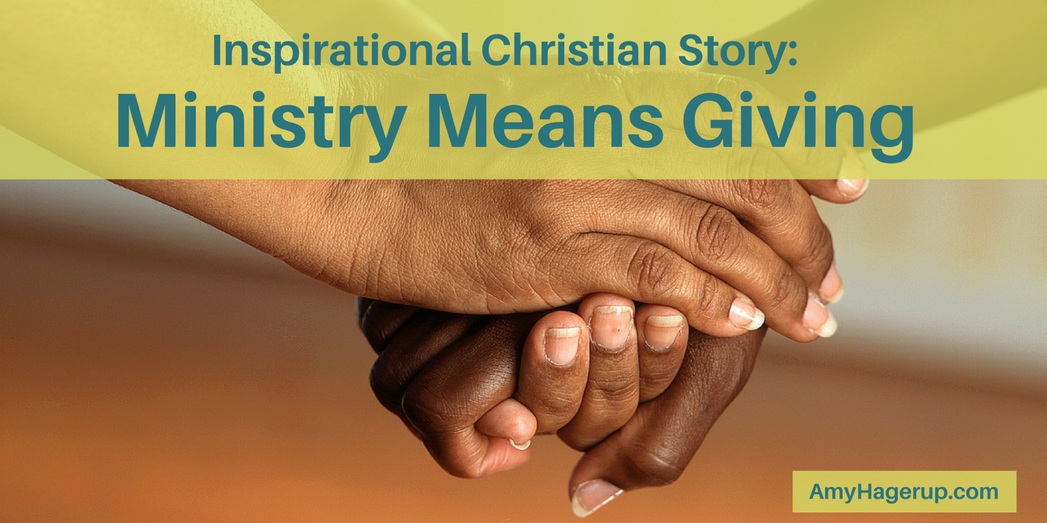 Here is an inspirational story about how ministry means giving to others like Jesus gave so freely to us.