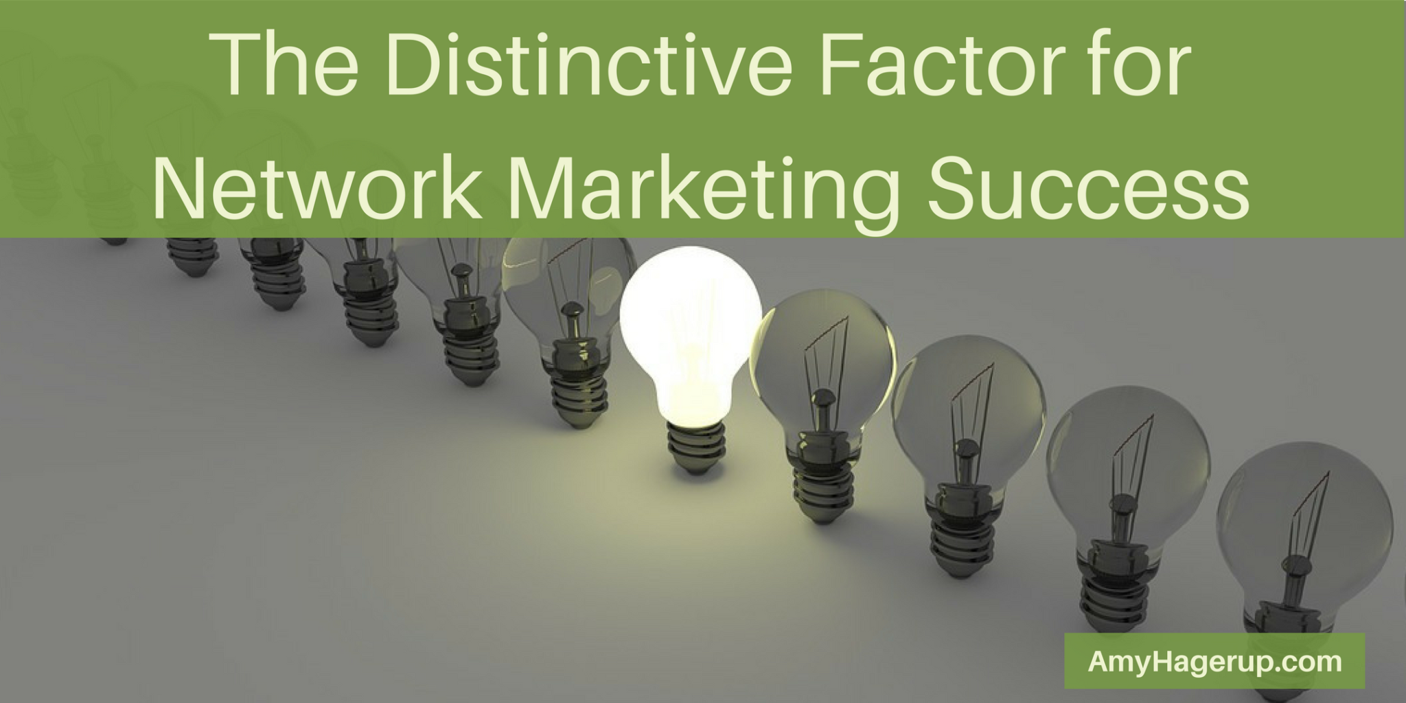 Check out the differentiating factor needed for network marketing success.
