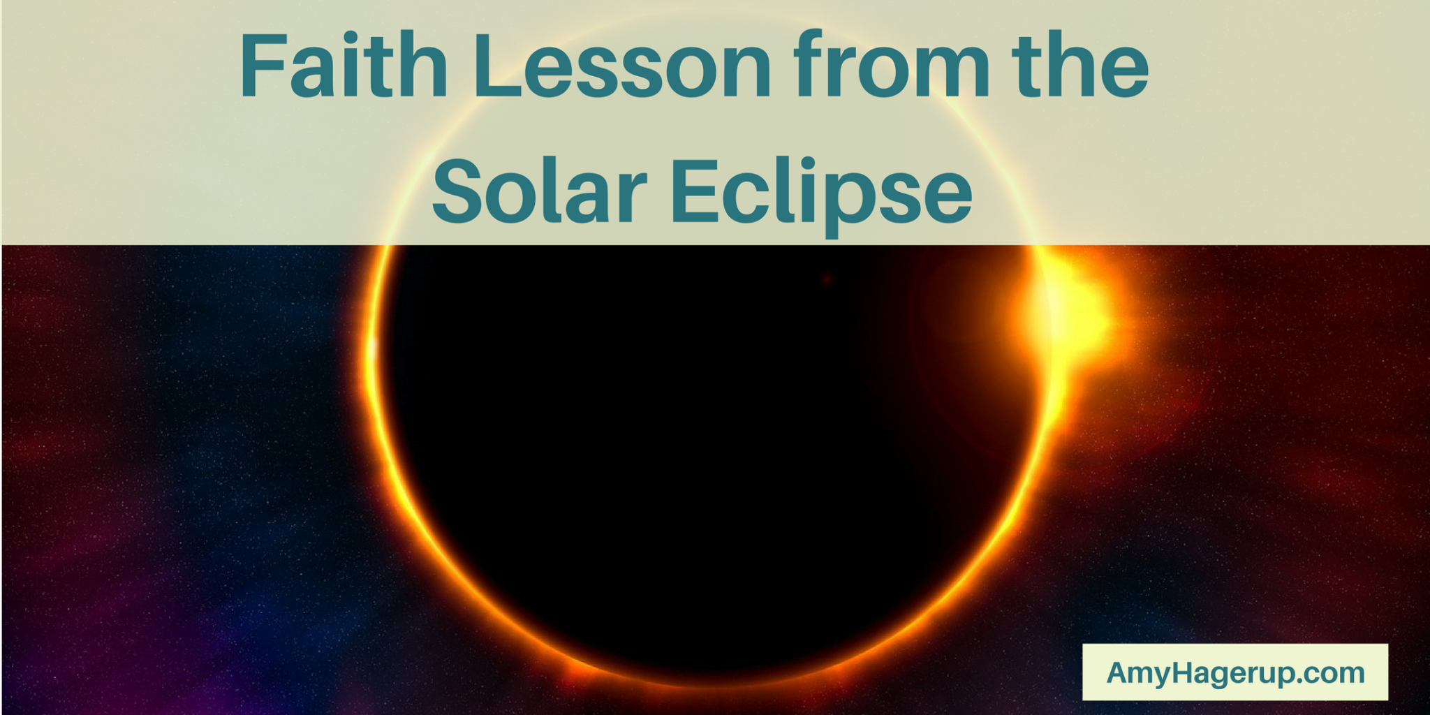 Check out this faith lesson from the solar eclipse.
