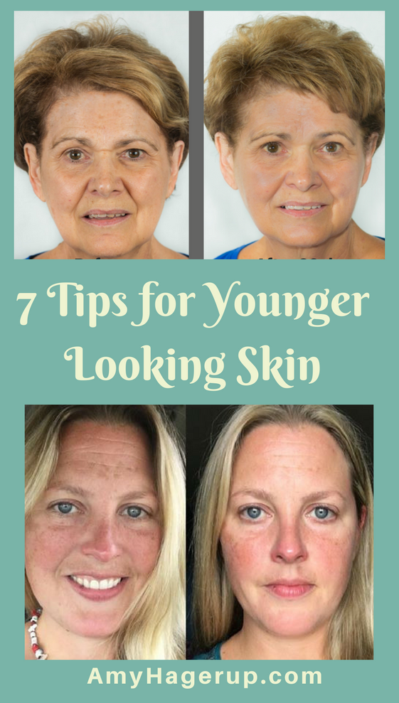 Here are 7 tips for younger looking skin.