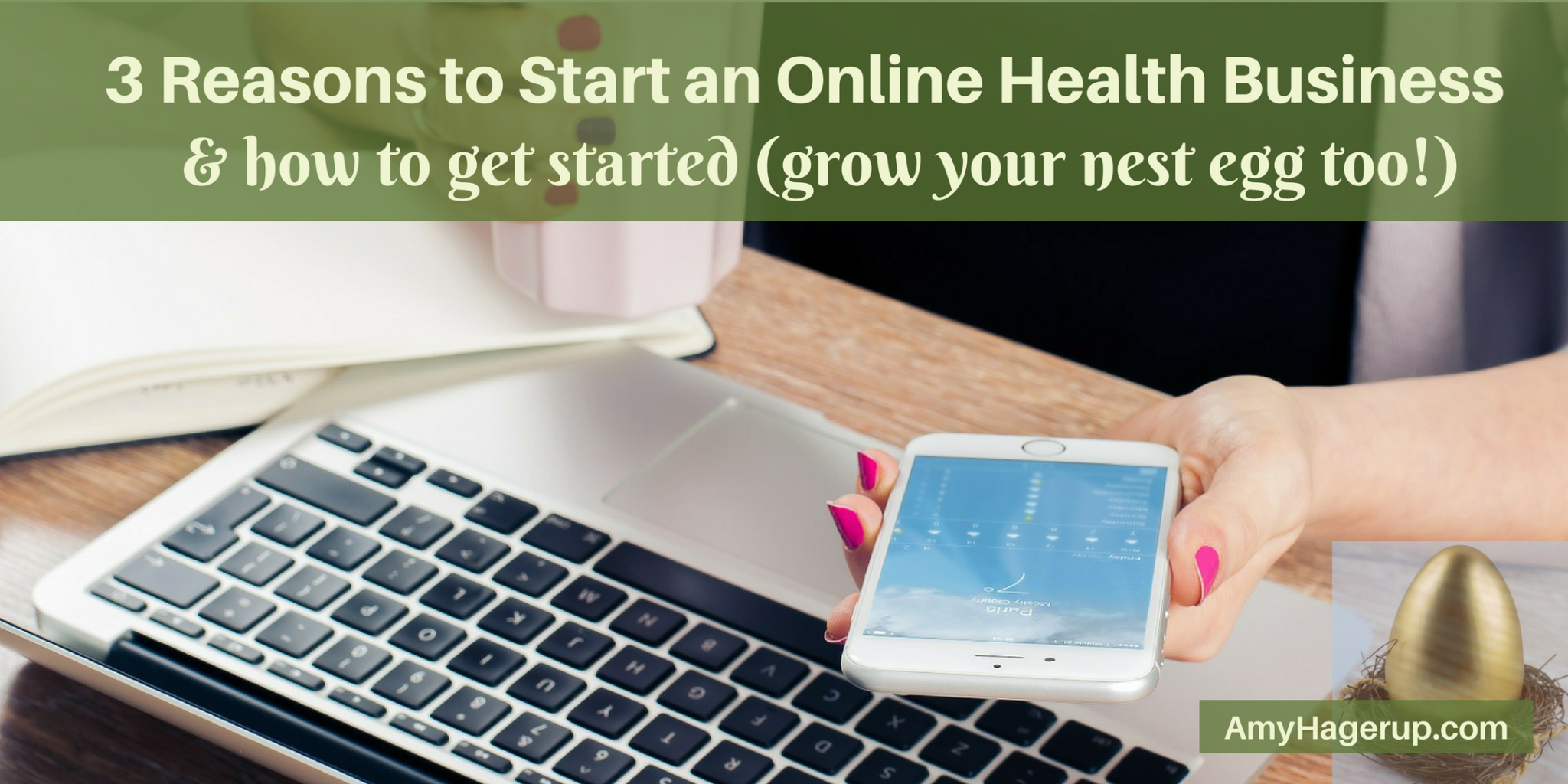 Want to start a home business? Check out 3 reasons to start an online health business and how to get started.